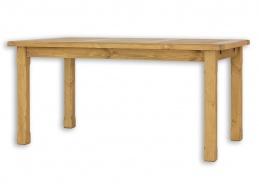 Dřevěný jídelní stůl 80x120 MES 02 A s hladkou deskou - výběr moření