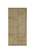 Šatní skříň Ideal 2D3S - borovice (lakovaná)