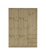 Velká šatní skříň Ideal 3D3S - borovice (lakovaná)