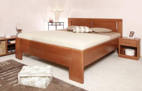 Masivní postel s úložným prostorem DeLuxe 3 - 120/140 x 200cm - výběr odstínů