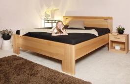 Masivní postel s úložným prostorem  Deluxe 2 - 120/140 x 200cm - výběr odstínů