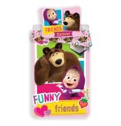 Dětské povlečení Míša a Máša Funny Friends