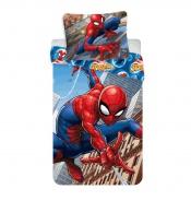 Dětské povlečení Spiderman lezec na domě