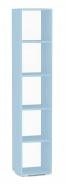 Policová skříňka REA Rebecca 5 - ice blue - s dvířky/bez dvířek