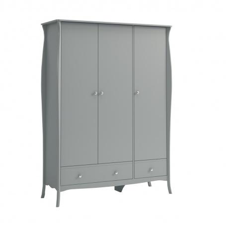 Šatní skříň Baroko 3D3S - tmavě šedá