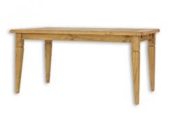 Jídelní selský stůl 90x160 MES 03 A s hladkou deskou - výběr moření