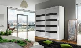 Šatní skříň BEGA XI bílá/černá
