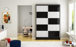 Šatní skříň MONTANA II černá/bílá