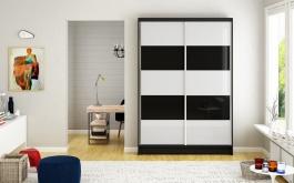 Šatní skříň MONTANA III černá/bílá