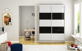 Šatní skříň MONTANA IV bílá/černá
