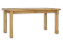 Dřevěný jídelní stůl 90x160 MES 02 A s hladkou deskou -výběr moření