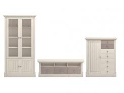 Obývací stěna Monako III - bílá/dub trufla