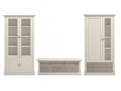 Obývací stěna Monako II - bílá/dub trufla