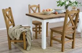 Selský stůl z masivu 100x200 MES 13 A s hladkou deskou - výběr moření