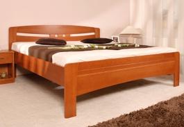 Masivní postel s úložným prostorem Evita 6 - 80/90/100 x 200cm - výběr odstínů