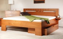 Masivní postel s úložným prostorem Varezza 1 - 120/140 x 200cm - výběr odstínů