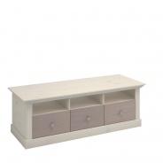 Televizní stolek Monako - bílá/dub trufla