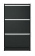 Vysoký výklopný botník Cloud 195 - černá/hnědá
