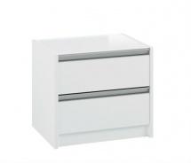 Noční stolek s 2 šuplíky Cloud 002 - bílá
