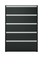 Komoda s 5 šuplíky Cloud 017 - černá/hnědá