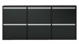 Široký výklopný botník Cloud 194 - černá/hnědá