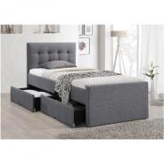 Moderní postel, šedá, 90x200, VISKA