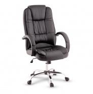 Kancelářské křeslo, černá / chrom, MADOX