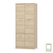 4- dveřová věšáková skříň, dub sonoma, TEYO