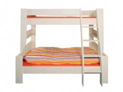 Rozšířená postel Dany 90+120x200 cm - borovice/bílá