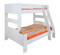 Rozšířená postel Dany 90+120x200 cm - MDF/bílá