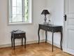 Noční stolek Baroko - černá/hnědá