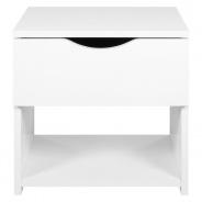 Noční stolek s šuplíkem bílý Lenny