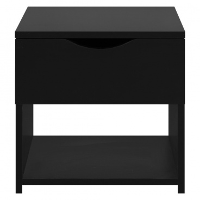 Noční stolek s šuplíkem černý Lenny
