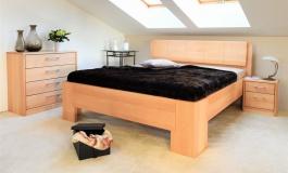 Masivní postel s úložným prostorem Manhattan 1 - 120/140 x 200cm - výběr odstínů