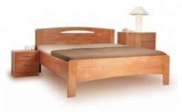 Masivní postel s úložným prostorem Evita 3 - 120/140 x 200cm - výběr odstínů