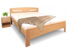 Masivní postel s úložným prostorem Evita 6 - 120/140 x 200cm - výběr odstínů