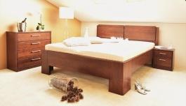 Masivní postel s úložným prostorem Manhattan 2 - 120/140 x 200cm - výběr odstínů