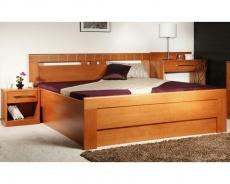 Masivní postel s úložným prostorem Arleta 1 - 120/140 x 200cm - výběr odstínů