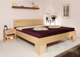 Masivní postel s úložným prostorem Varezza 6A (v.50cm) - 120/140 x 200cm - výběr odstínů