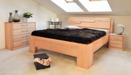 Masivní postel s úložným prostorem Manhattan 3 - 120/140 x 200cm - výběr odstínů