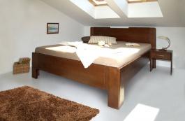 Masivní postel s úložným prostorem K-design 3 - 120/140 x 200cm - výběr odstínů