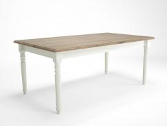 Jídelní stůl bílý rustikální Potage