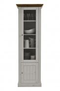 Vitrína vysoká Monako - bílá/provence