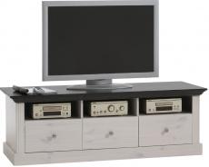 Televizní stolek Monako - bílá/tmavě hnědá