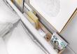 Postel s ÚP a osvětlením DENTRO DT-02 160 bílá/dub stirling
