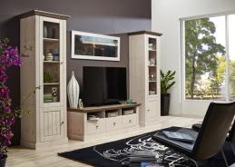 Obývací stěna Monako I - bílá/hnědá