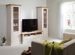 Obývací stěna Monako I - bílá/světle hnědá
