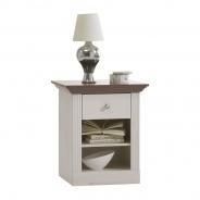 Noční stolek Monako - bílá/hnědá