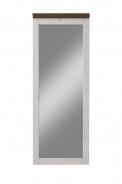 Zrcadlo Monako II - bílá/hnědá