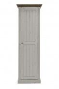 Skříň Monako 1D - bílá/hnědá